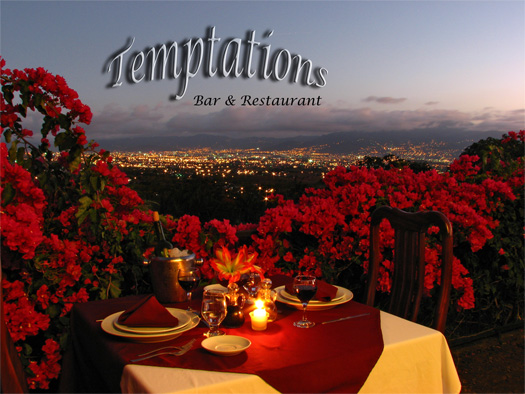 Temptations Restaurant at the Hotel Desire Costa Rica, San Jose, Costa Rica
